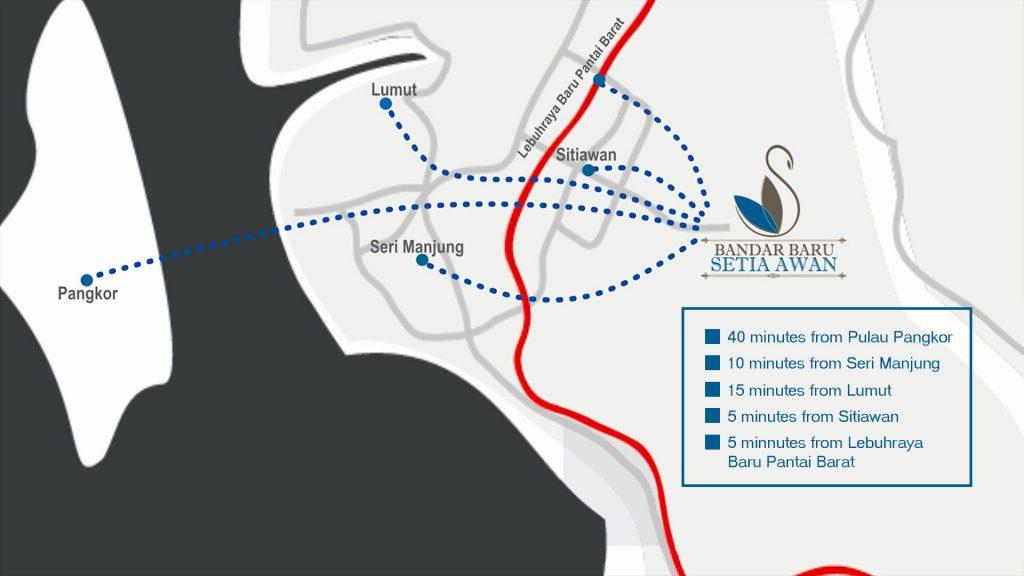 Peta Lokasi Bandar Baru Seia Awan Perdana