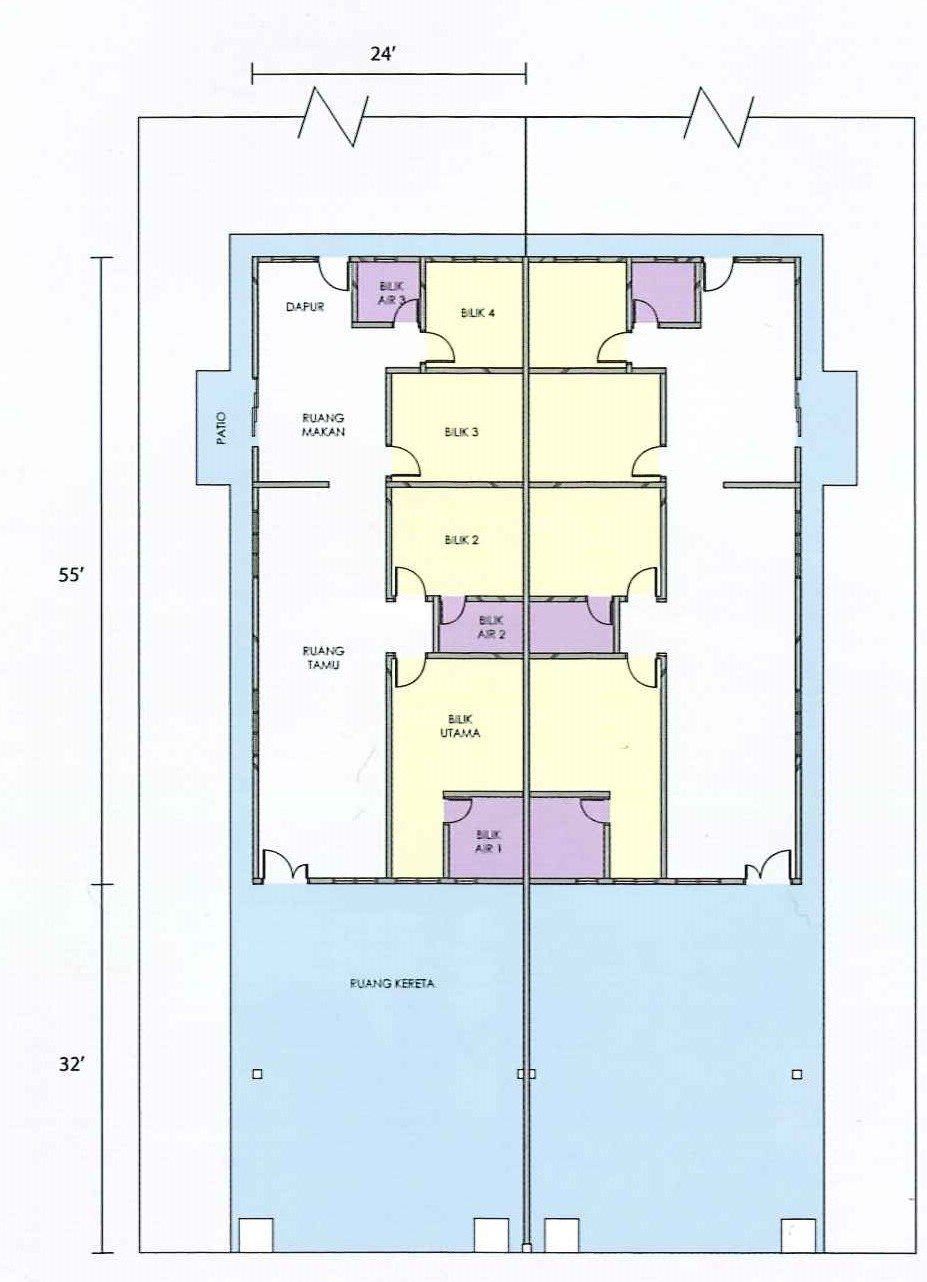 Floor Plan Rumah Type B