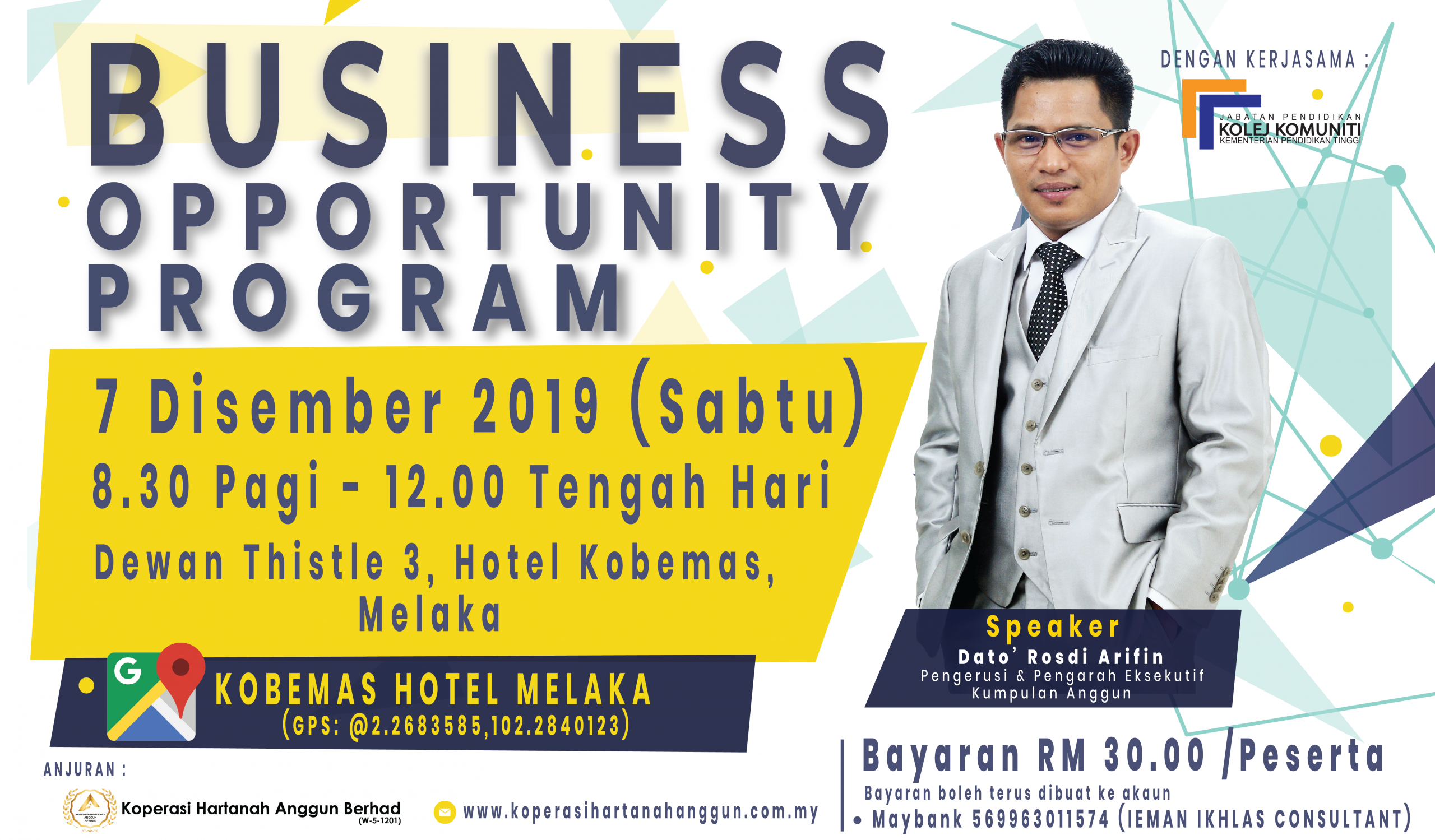 Business Opportunity Program, Melaka 1